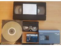 Tapes transferred to DVD