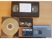 VHS to DVD transfers and all other tapes to DVD