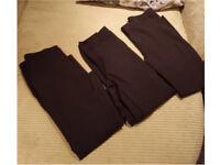 School skinny black boys trousers x 3
