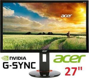 "REFURB ACER 27"" LED GAMING MONITOR - 131458530 - Full HD NVIDIA GSYNC Widescreen Monitor COMPUTER PC"
