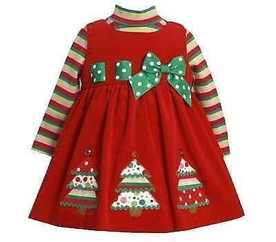 bonnie jean christmas dress ebay - Red Dress For Christmas