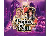 Peter Pan Pantomime Floral Pavillion New Brighton 1 adult 2 children