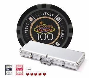 Ensemble de 500 jetons LAS VEGAS 14gr - préassemblé (Tournoi)  Las Vegas Chips Set 500 Pcs 14gr- Tournament