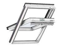 Velux White Polyurethane coated window GGU MK08 780 MM X 1400 MM 0070 & MK08 FLASHING