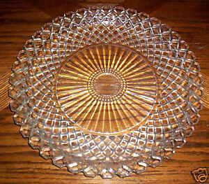 1930s Waterford Waffle Glass Platter