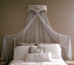 glamorous french vintage style ciel de lit bed canopy crown corona ebay. Black Bedroom Furniture Sets. Home Design Ideas