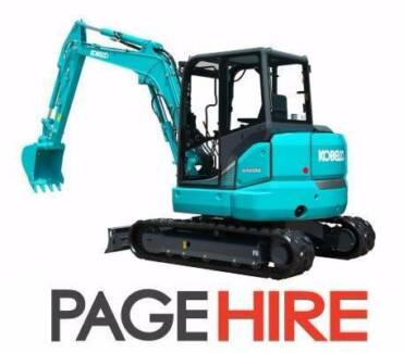 FOR HIRE - 5t Excavator - YOU DRIVE, YOU SAVE $$