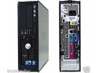 DELL Windows 7 Dell Dual Core Desktop Tower PC Computer - 4GB RAM - 80GB HDD