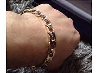 Men's heavy 9ct bracelet, Unwanted Christmas Present