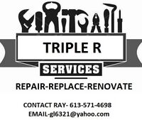 Repair,Replace,Renovate
