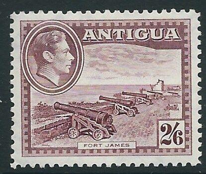 ANTIGUA SG106 1938 2/6 BROWN-PURPLE MTD MINT