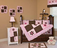 Complete Bedding and Curtain Set - Baby Girl