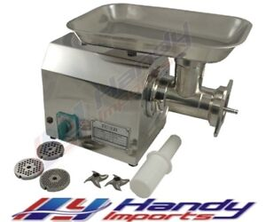 NEW COMMERCIAL 150KG/HR ELECTRIC MEAT MINCER STAINLESS STEEL BENCH TOP GRINDER