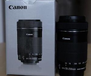 Canon 55-250 mm lens  F/4.5-5.6 IS STM