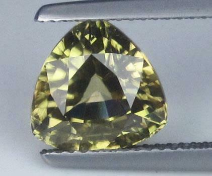 5.56CTS NATURAL BROWN ZIRCON PEAR SHAPE YELLOW COLOR LOOSE GEMSTONE FROM CEYLON