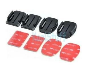 Flat + Curved Mounts with 3M Adhesive Pad for GoPro HERO Camera GP10