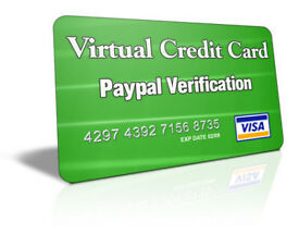 Virtual Credit Card - Ready Loaded - Customisable - Online Verification and Purchases