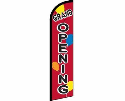 Grand Opening Balloons Windless Full Curve Top Advertising Banner Flag Store Res