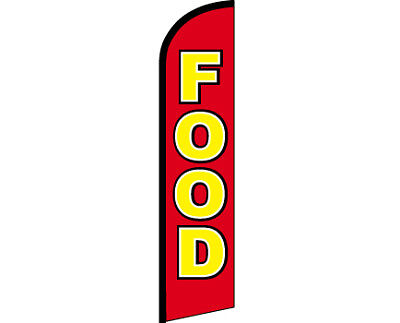 Food Windless Full Curve Top Advertising Banner Flutter Bow Swooper Flag