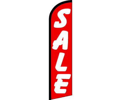 Sale Red Windless Full Curve Top Advertising Banner Feather Swooper Flutter Flag