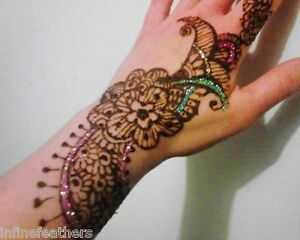 Large henna tattoo kit with glitter and jewels ebay for Henna tattoos locations