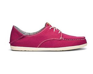 OluKai pink canvas shoes
