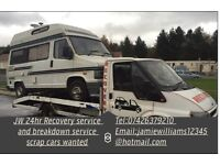 JW 24hr Recovery service and all scrap cars wanted