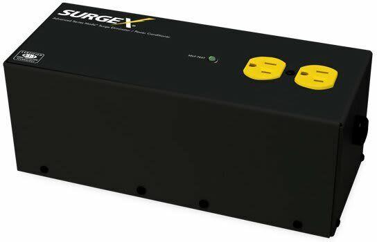 SurgeX SA15 Standalone Surge Eliminator, 15A/120V, 2 outlets.