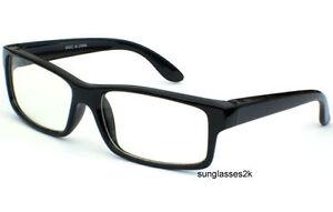 SEXY-HOT-TEACHER-NERD-POLITE-CLEAR-LENS-Hipster-Eye-GLASSES-BLACK-FRAME-New