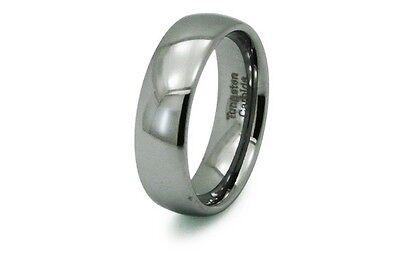 Tungsten Carbide Plain Classic Mens Wedding Band Ring 7MM 7mm Tungsten Carbide Wedding Band