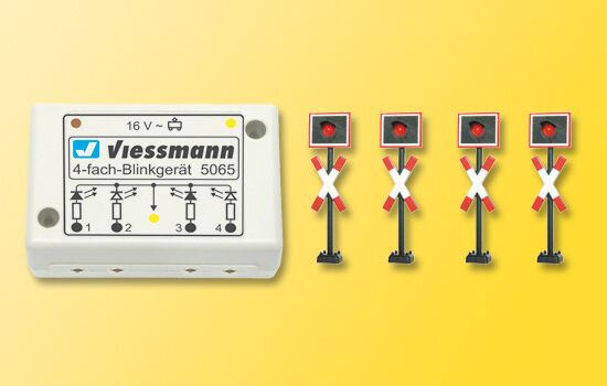 SH Viessmann 5835 Andreaskreuze, 4 Stück mit Blinkelektronik