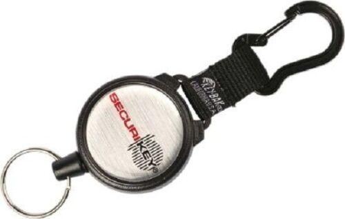 Securikey KARABINER KEY REEL 1200mm Cord, Heavy Duty, Large Ring *UK Brand
