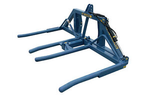 Fleming 3pth Mounted Double Wrapped Bale Lifter
