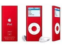 APPLE IPOD NANO 2ND GEN 8GB RED WITH CHARGER AND EARPHONES