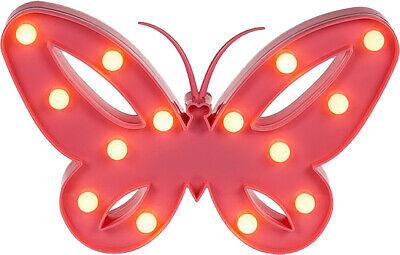 Mariposa Noche Lámpara Niños Boda Decoración Cumpleaños Regalo 14 Caliente White