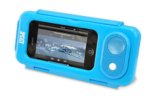 Pyle PWPS63BL Universal Waterproof iPod iPhone MP3 Portable Speaker & Case