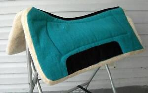 New-Contoured-Thick-Fleece-Western-Saddle-Pad-Blanket-Horse-Tack-Teal