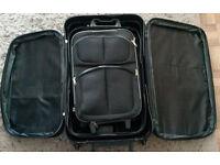 Set of Three Black Suitcases