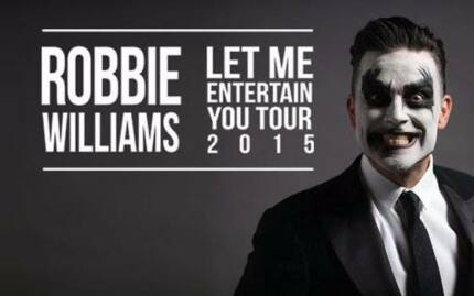 ROBBIE WILLIAMS CONCERT TICKETS PERTH Salter Point South Perth Area Preview