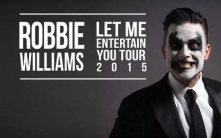 ROBBIE WILLIAMS GOLD CONCERT TICKETS PERTH Salter Point South Perth Area Preview