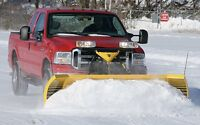 Insured snow plowing service