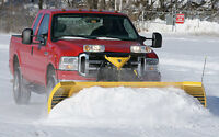 SNOW PLOWING WITH FULL SIZE TRUCK AND PLOW