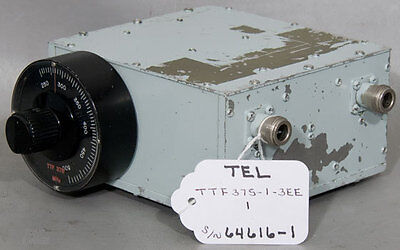 Telonic Berkley Ttf375-1-3ee Manually Tuned Bandpass Filter Ttf 375 250-500 Mhz