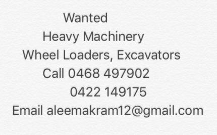 Wanted: Cat Loaders, excavators, rollers,graders