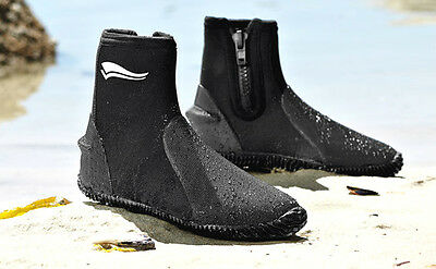 AQUA NEOPRENE DIVERS JET SKI DIVING SCUBA SURF WETSUIT DIVE BOOTS SIZE UK 5 6 7