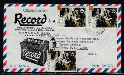 VENEZUELA Commercial Cover Caracas to New York City 20-10-1969 Cancel
