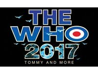 2 x tickets to see The Who at Glasgow SSE Hydro on 7th April ('Hot Seat Experience')