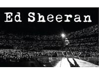 Ed Sheeran - Wembley Stadium - Sunday 17th June - 2 Seated Tickets
