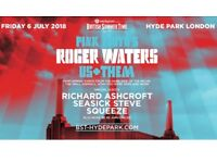 2 x GOLD CIRCLE Pink Floyd ROGER WATERS in London *6th July '18* US + THEM BST Hyde Park *IN HAND*