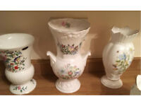 Aynsley fine bone china Tall vase